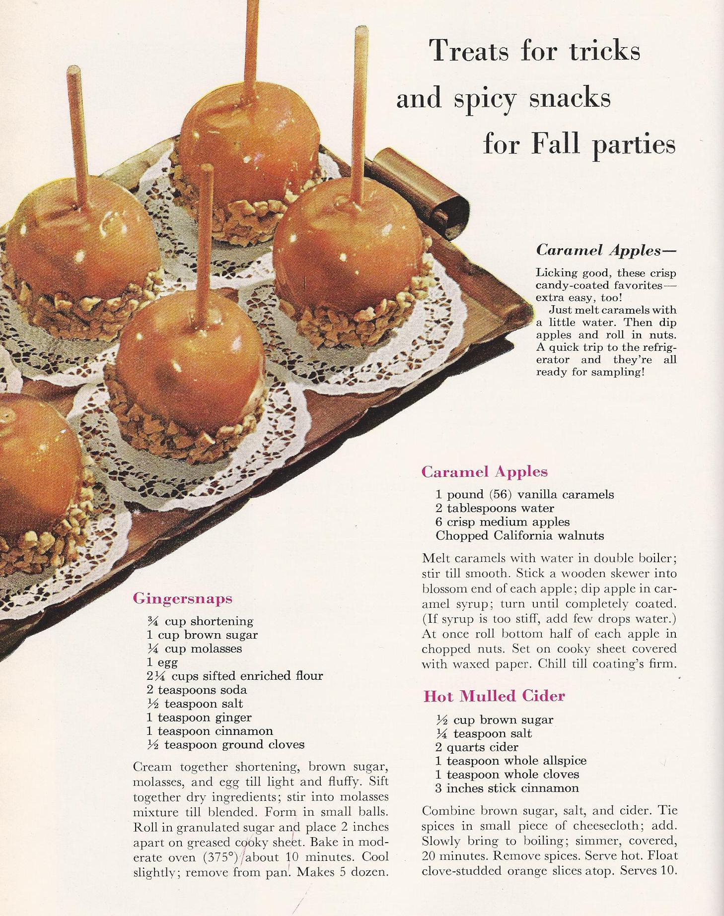 Halloween recipes autumn time on pinterest vintage Better homes and gardens recipes from last night