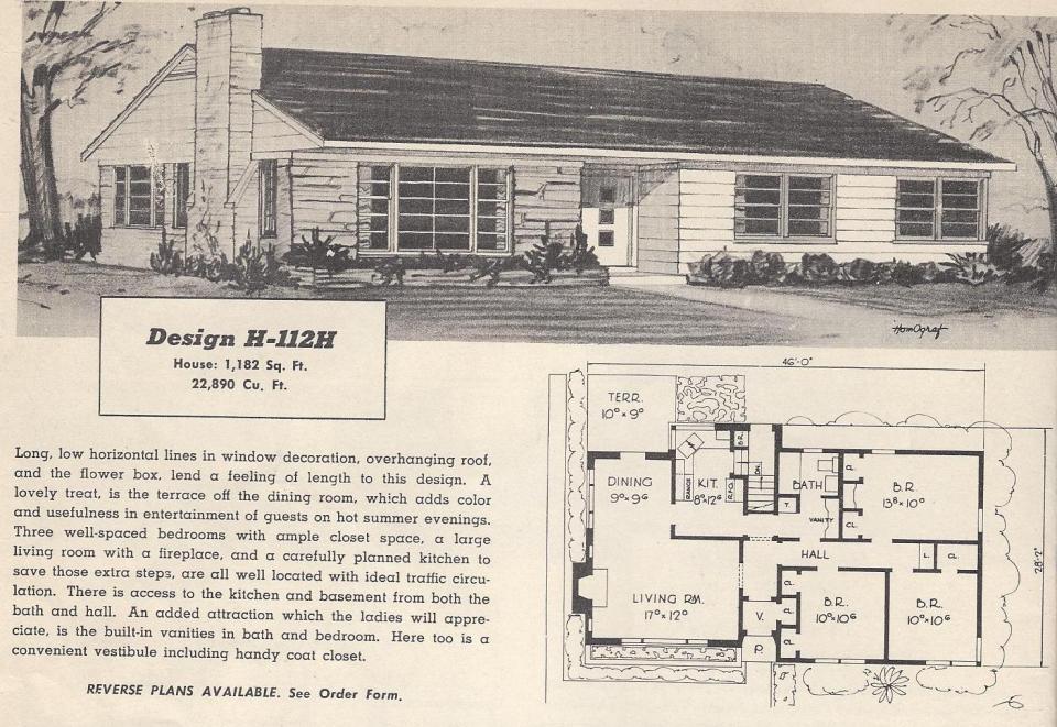 Vintage House Plans 112h Antique Alter Ego