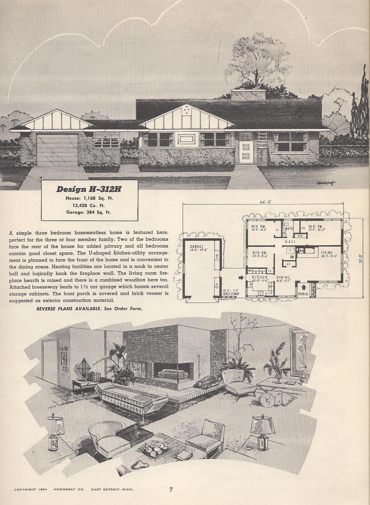 Vintage House Plans 312h Antique Alter Ego