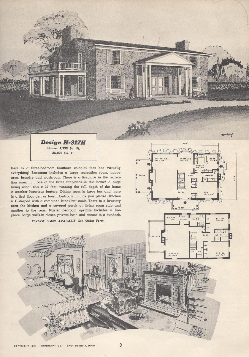 Vintage house plans 317h antique alter ego for Modern house plan 2012