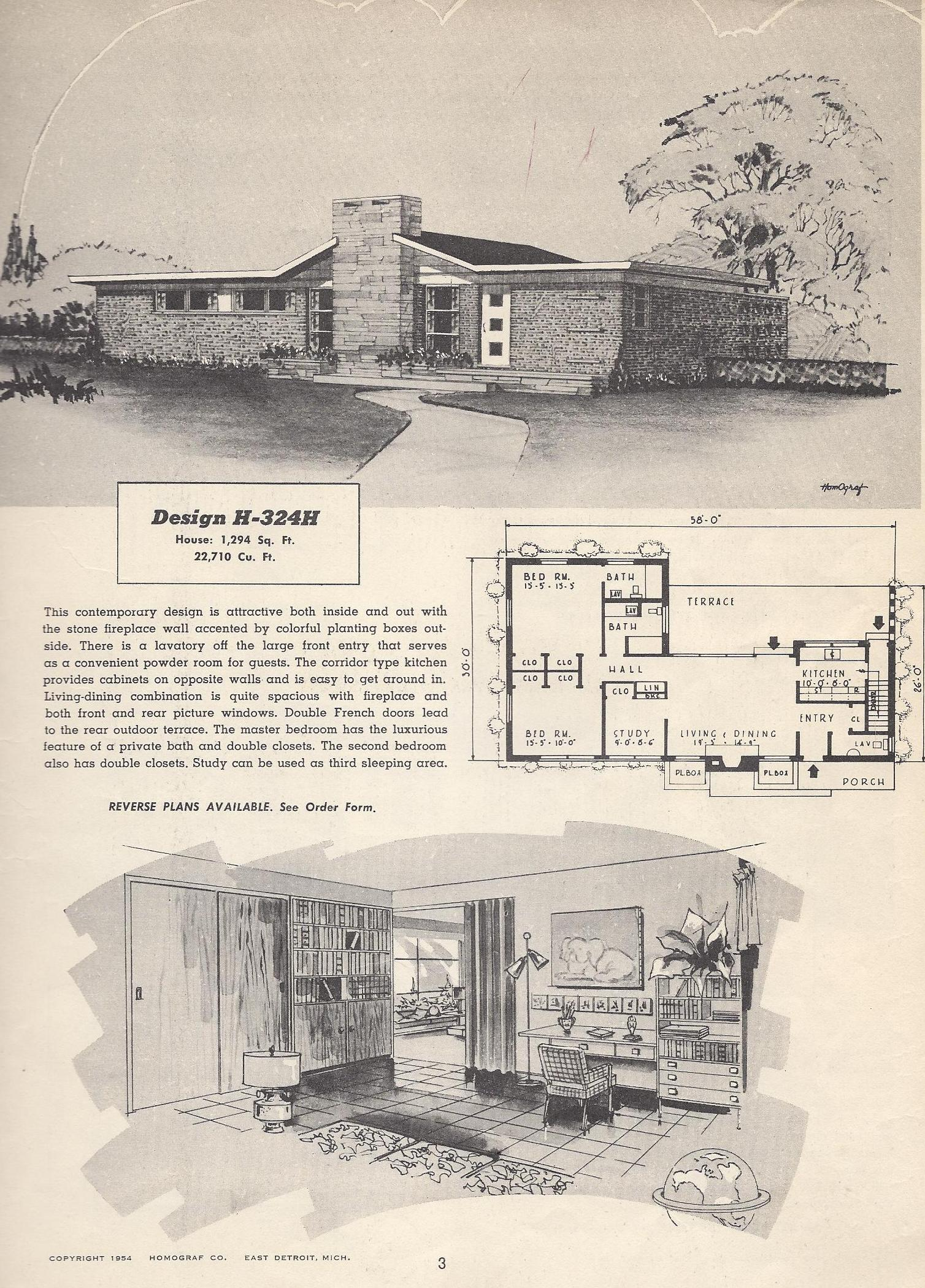Vintage house plans 324h antique alter ego for Vintage home floor plans