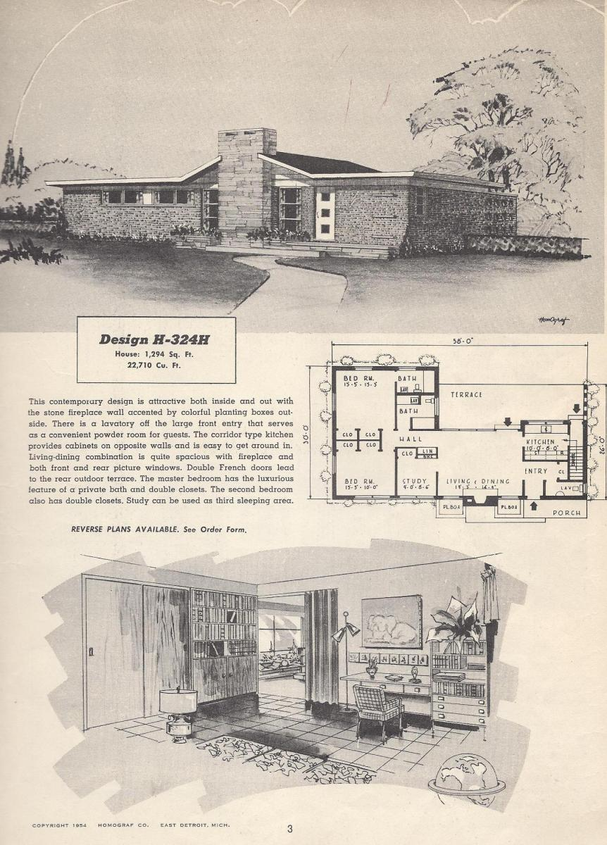 Vintage house plans 324h antique alter ego for Vintage home plans