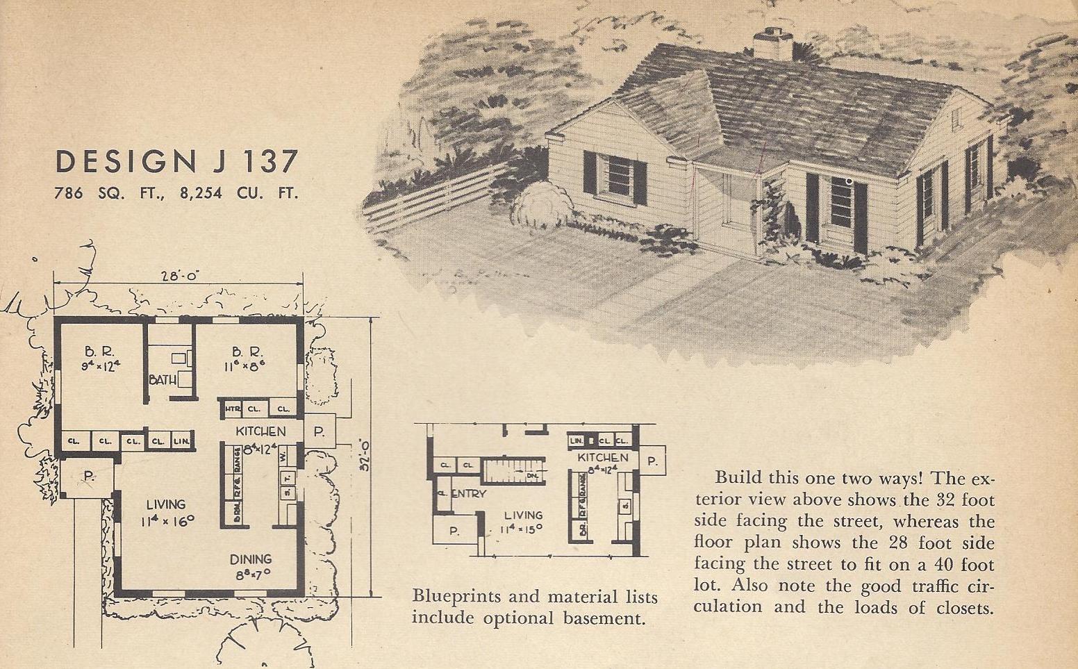 Vintage House Plans J137 Antique Alter Ego
