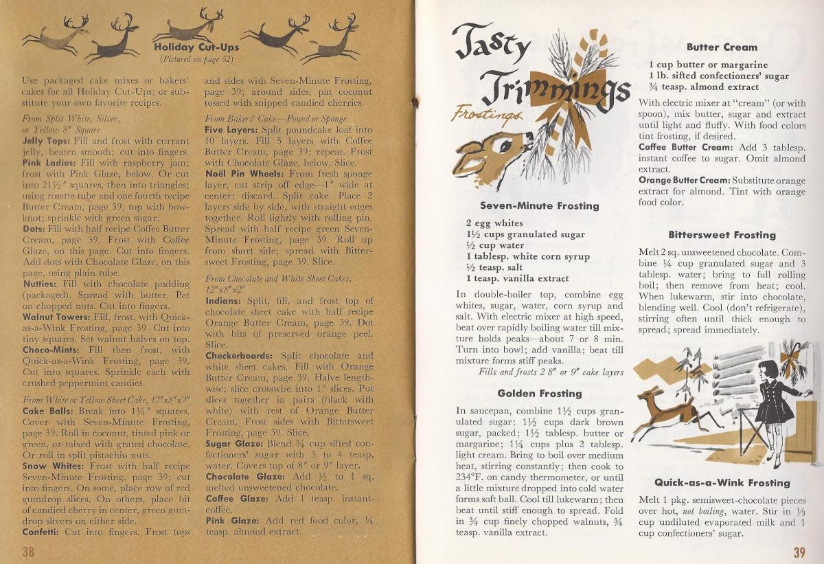 Vintage Christmas Recipes, Cakes