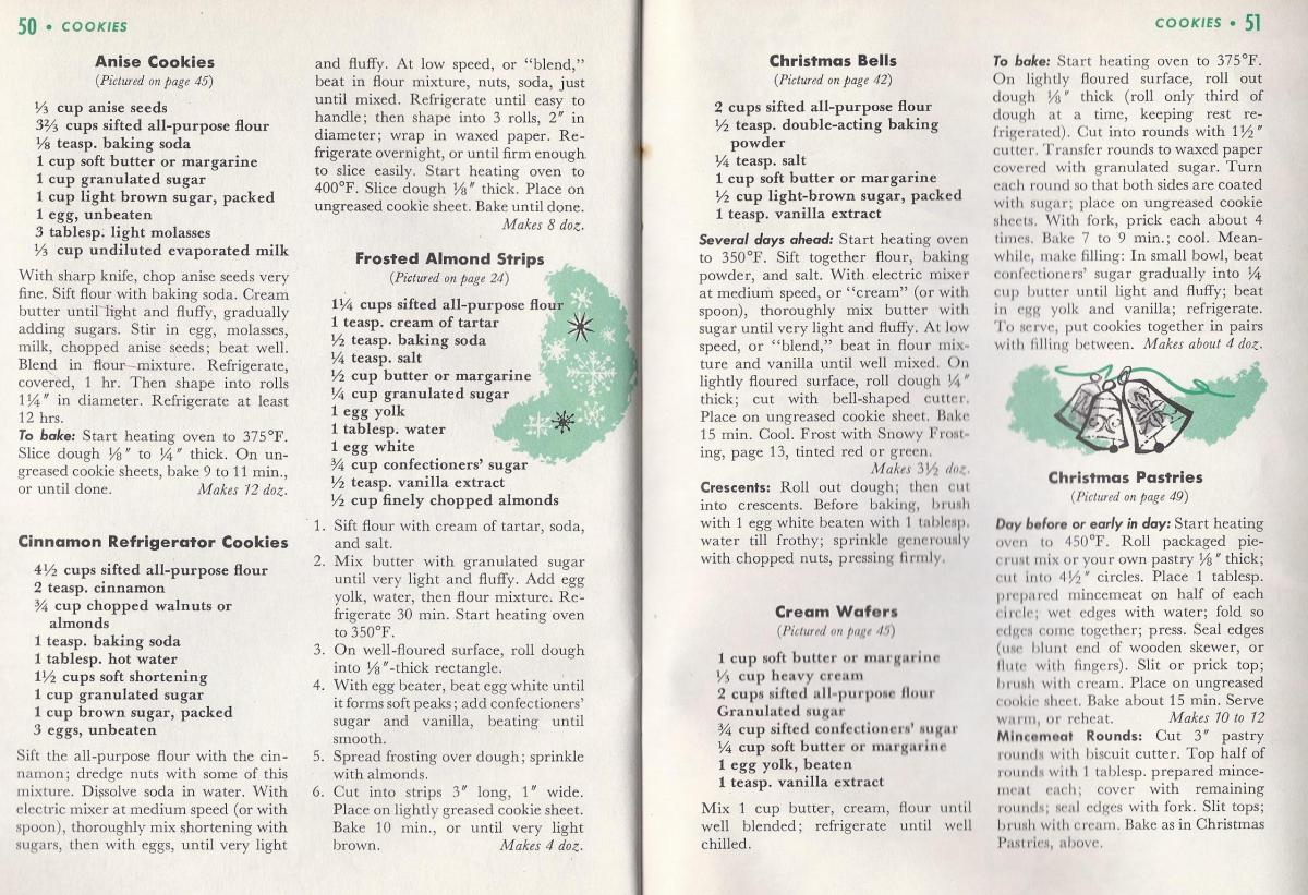 Vintage Christmas Recipes, Cookies