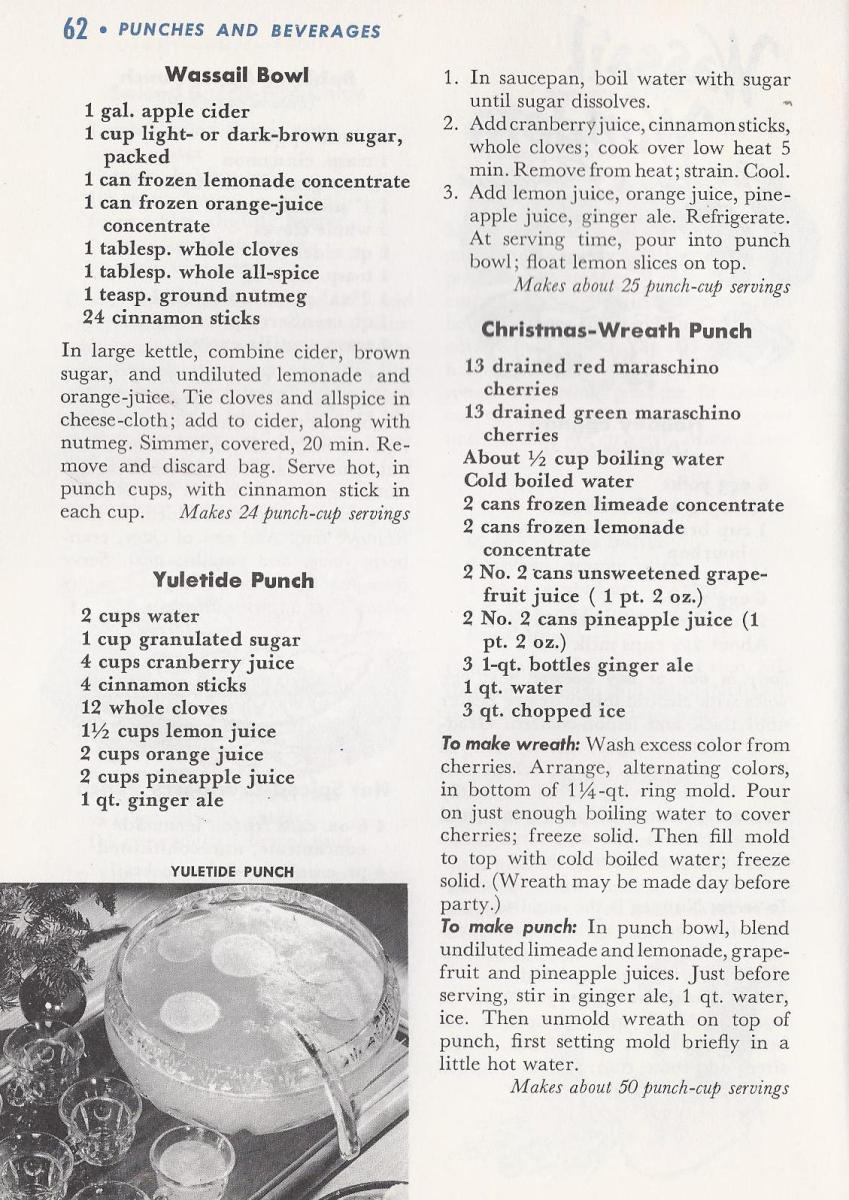 Vintage Christmas Recipes, Punch