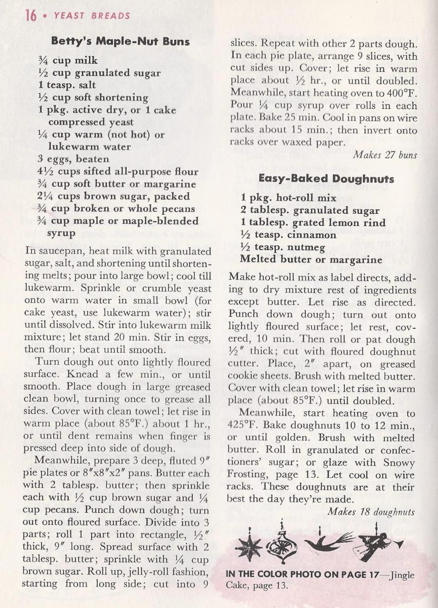 Vintage Christmas Recipes, Breads