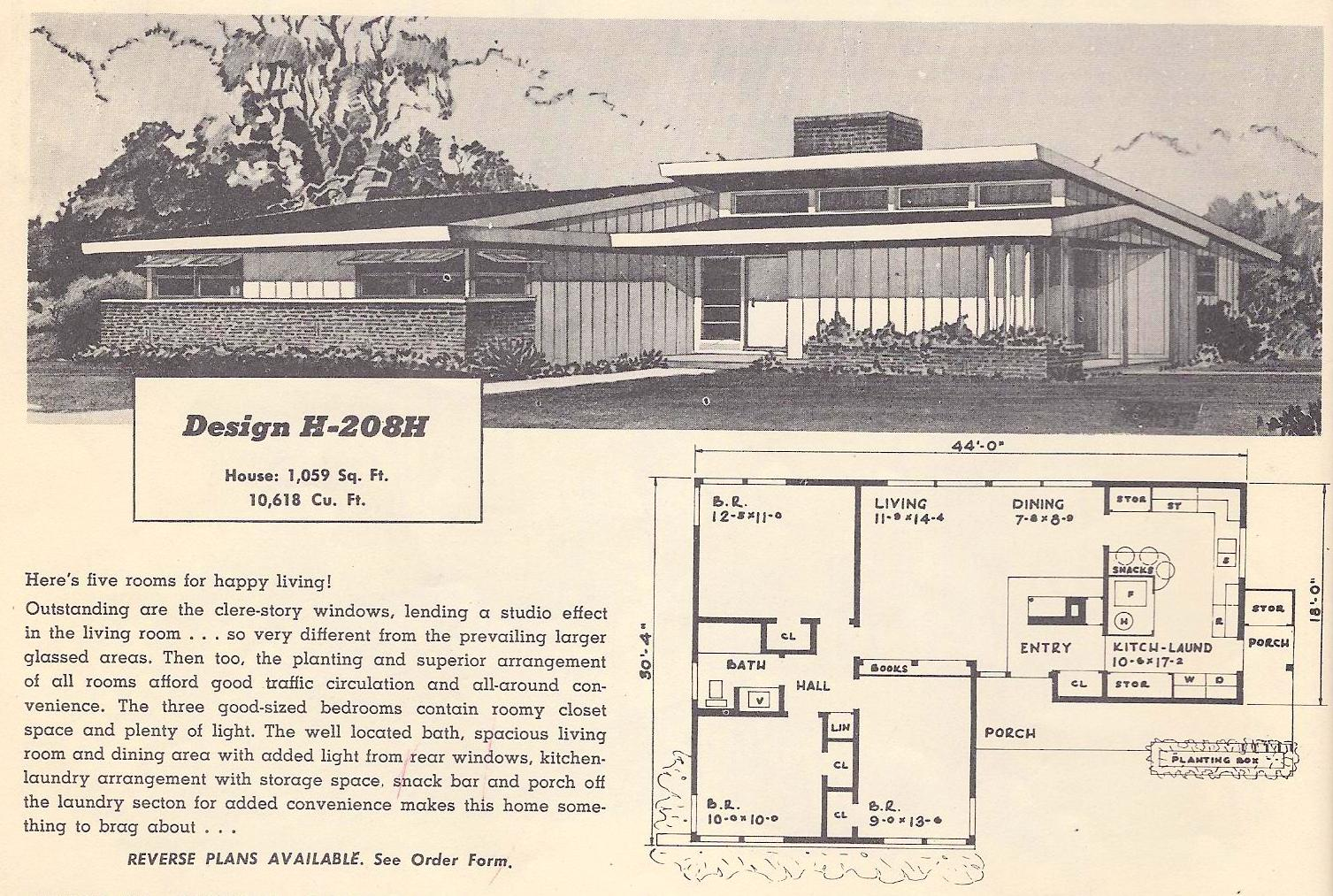 Vintage house plans 208h antique alter ego for Vintage home plans