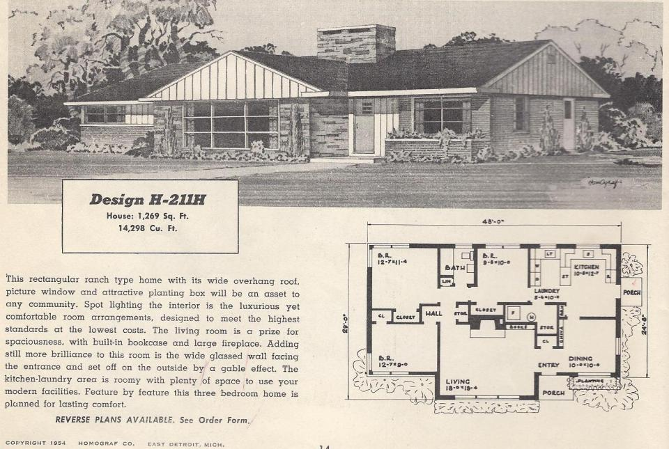 Vintage house plans 1950s houses mid century houses for 1950 s house plans