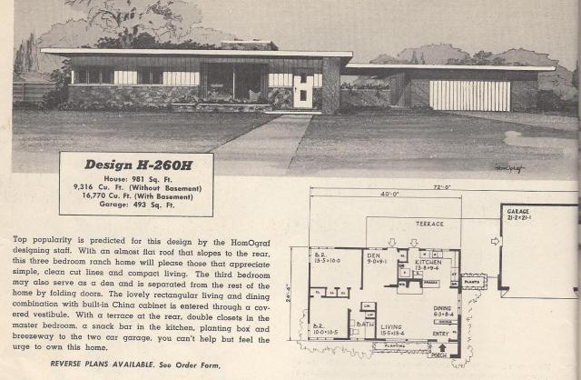 Vintage House Plans 260H |