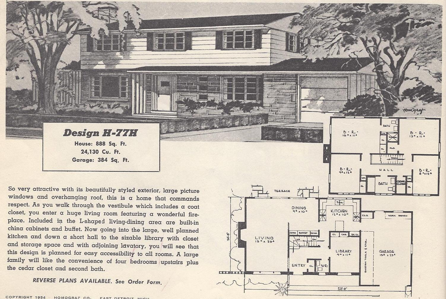 Vintage House Plans 77H Antique Alter Ego
