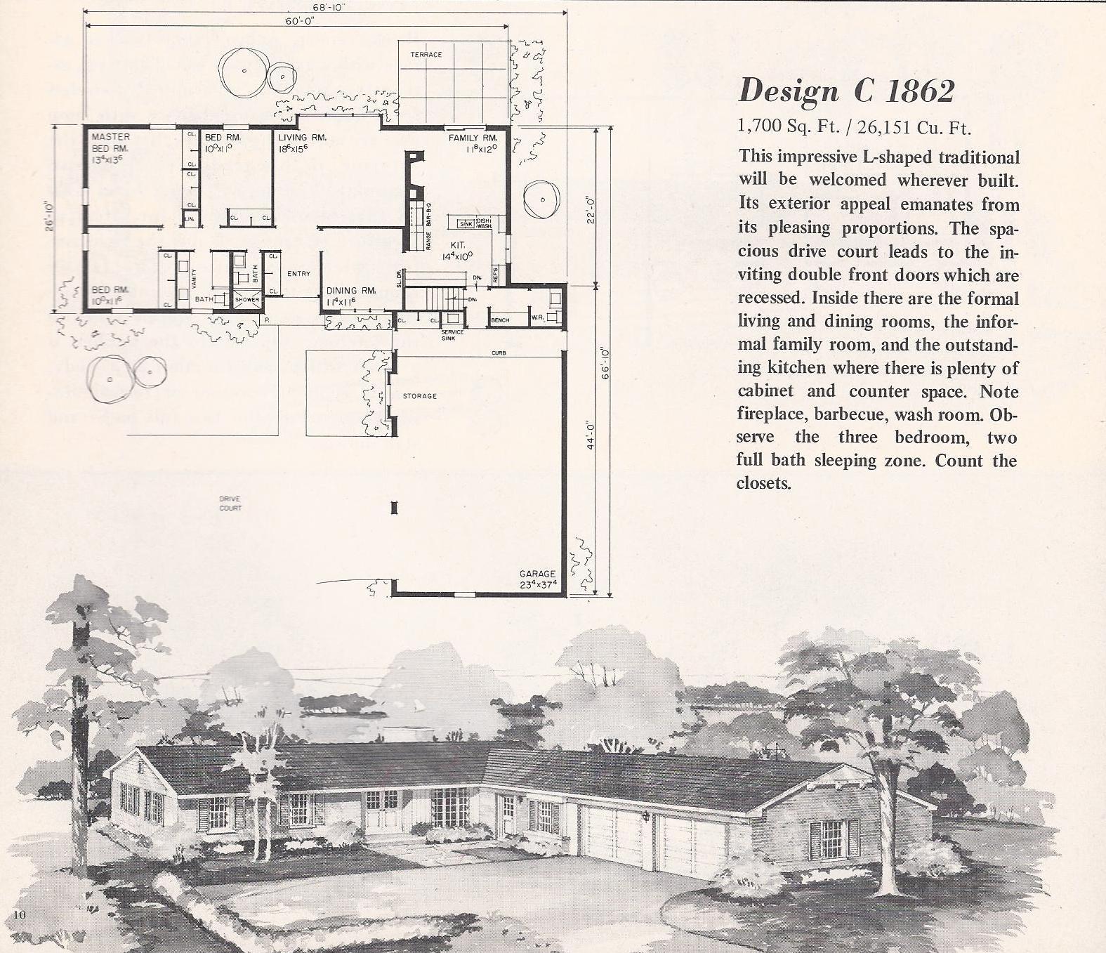 Vintage House Plans 1862 Antique Alter Ego