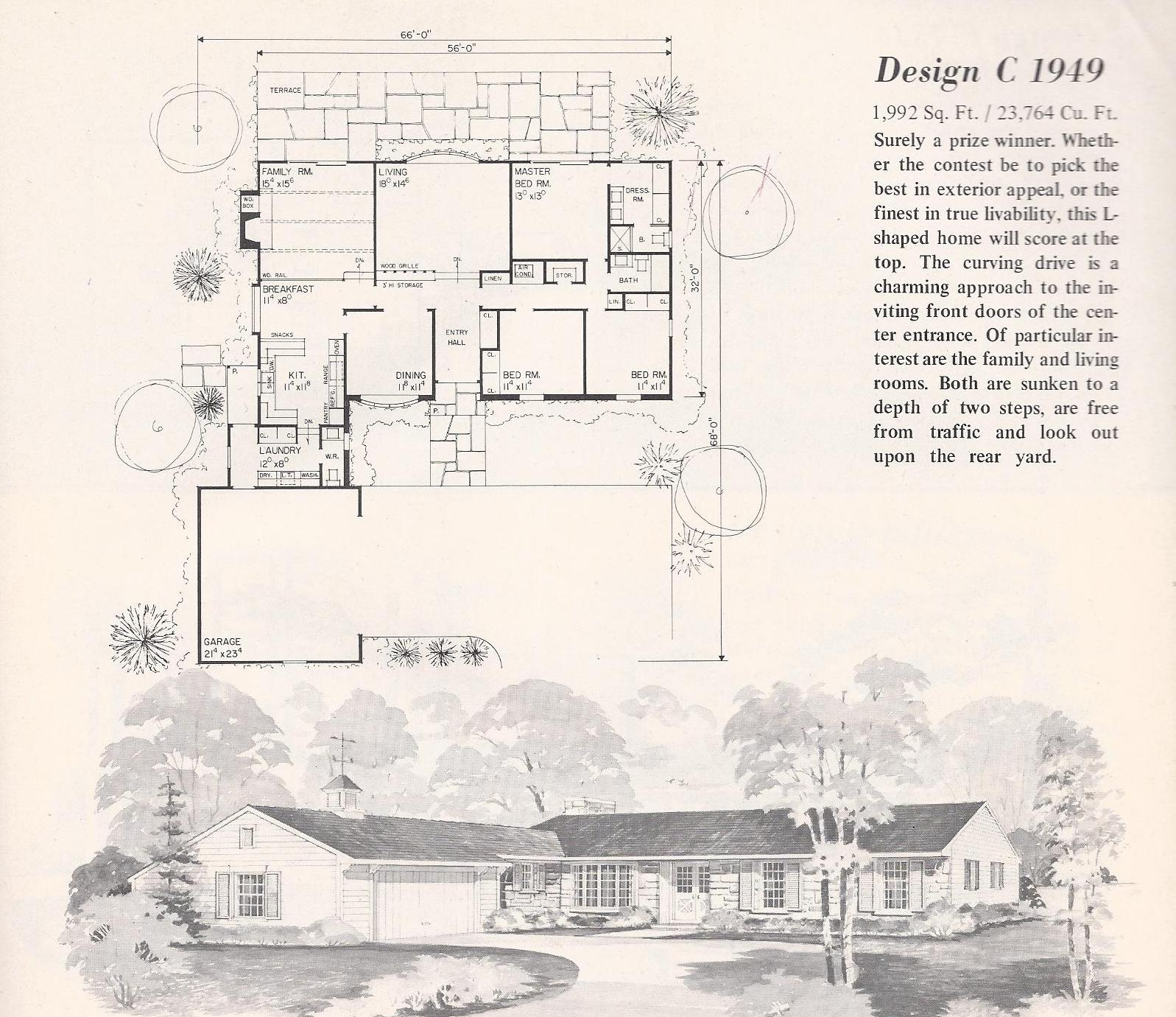 Vintage house plans 1949 antique alter ego for Classic tudor house plans