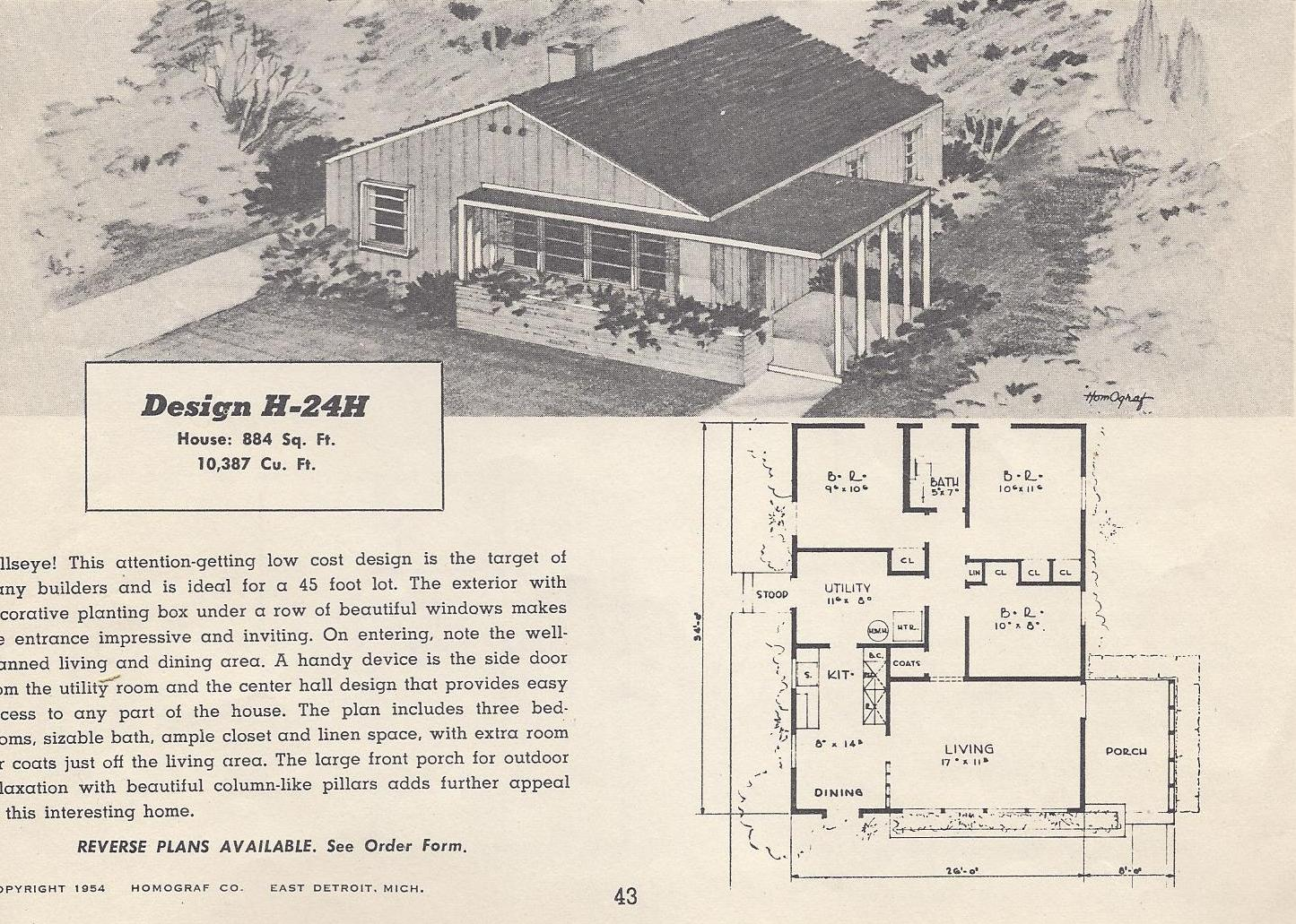 Pin vintage house plans tumblr on pinterest for Vintage ranch house plans