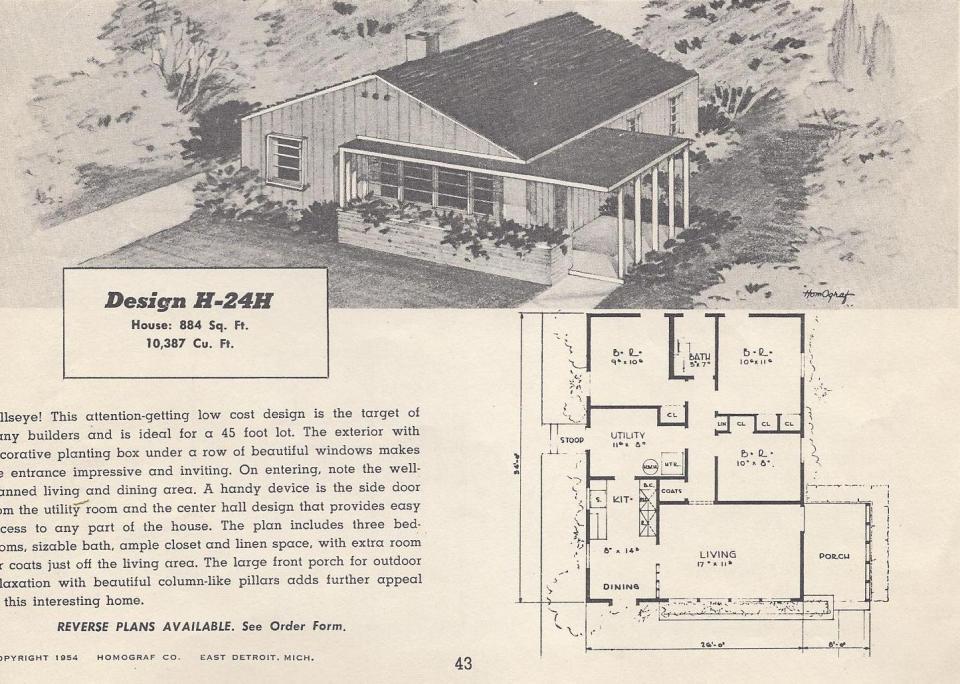 Vintage House Plans 24H Antique Alter Ego