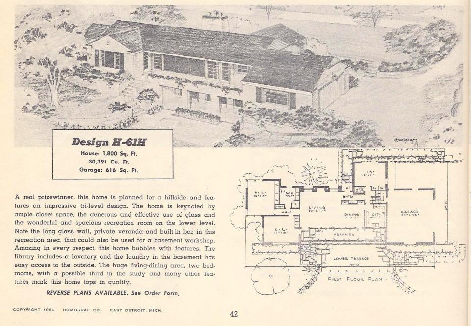 Vintage house plans 61h antique alter ego for Vintage ranch house plans