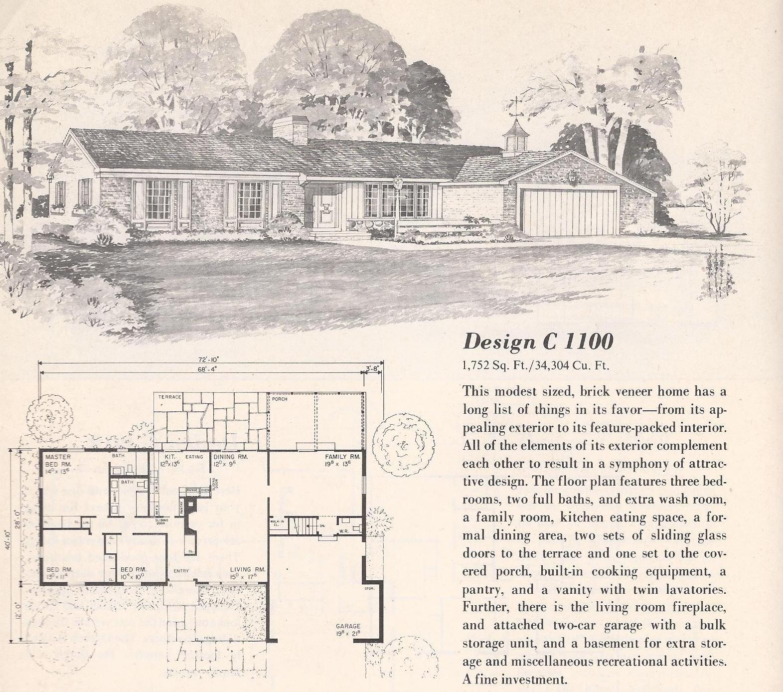 Vintage House Plans C1100 Antique Alter Ego
