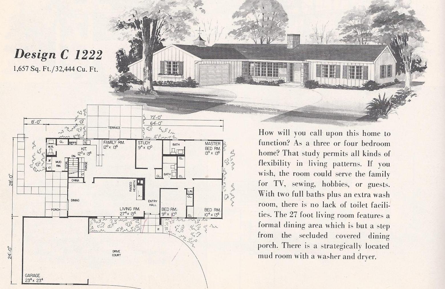 Vintage House Plans C1222 Antique Alter Ego