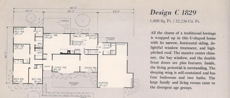 Vintage House Plans C1829a   Antique Alter Ego