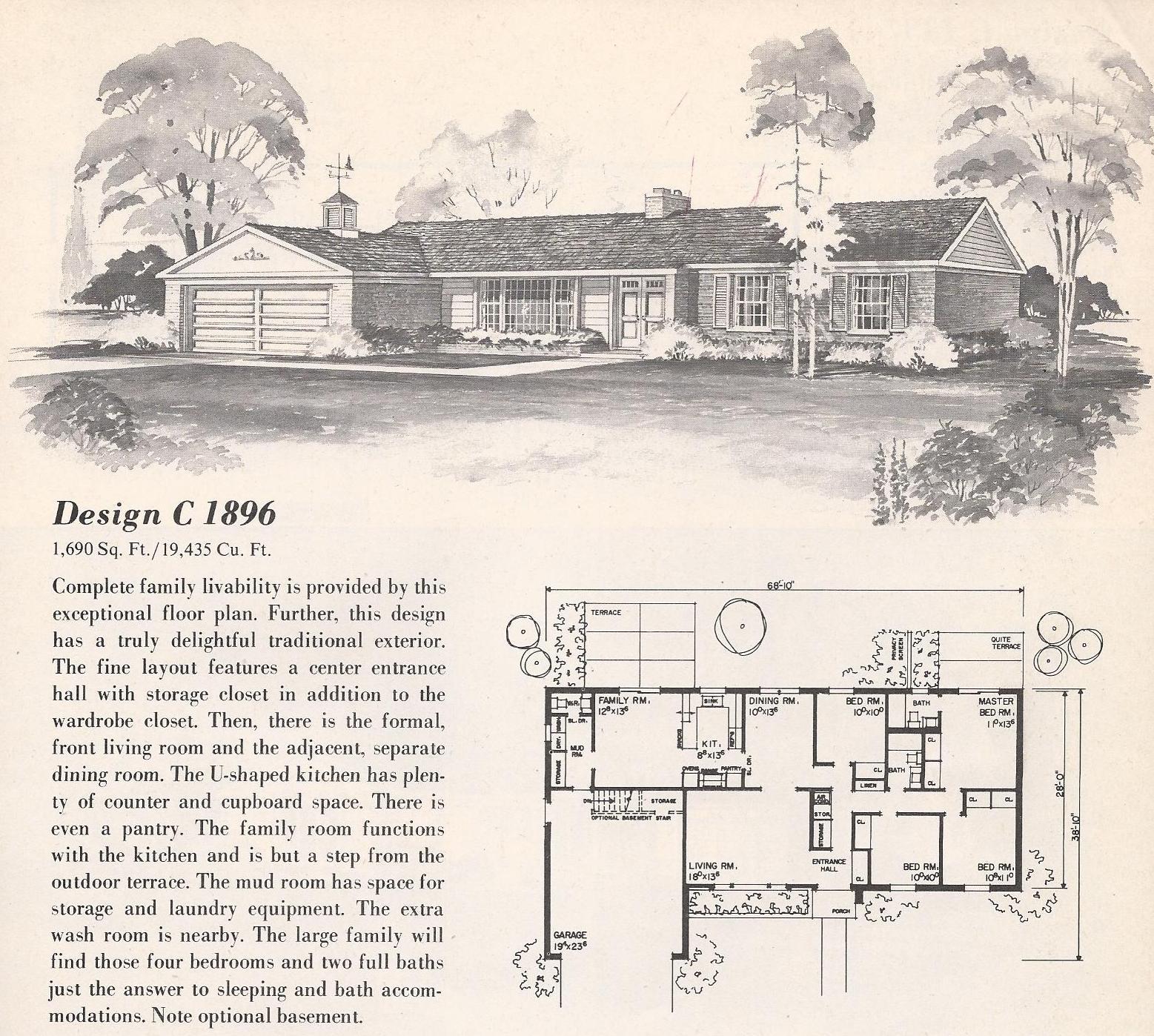 Vintage House Plans C1896 Antique Alter Ego
