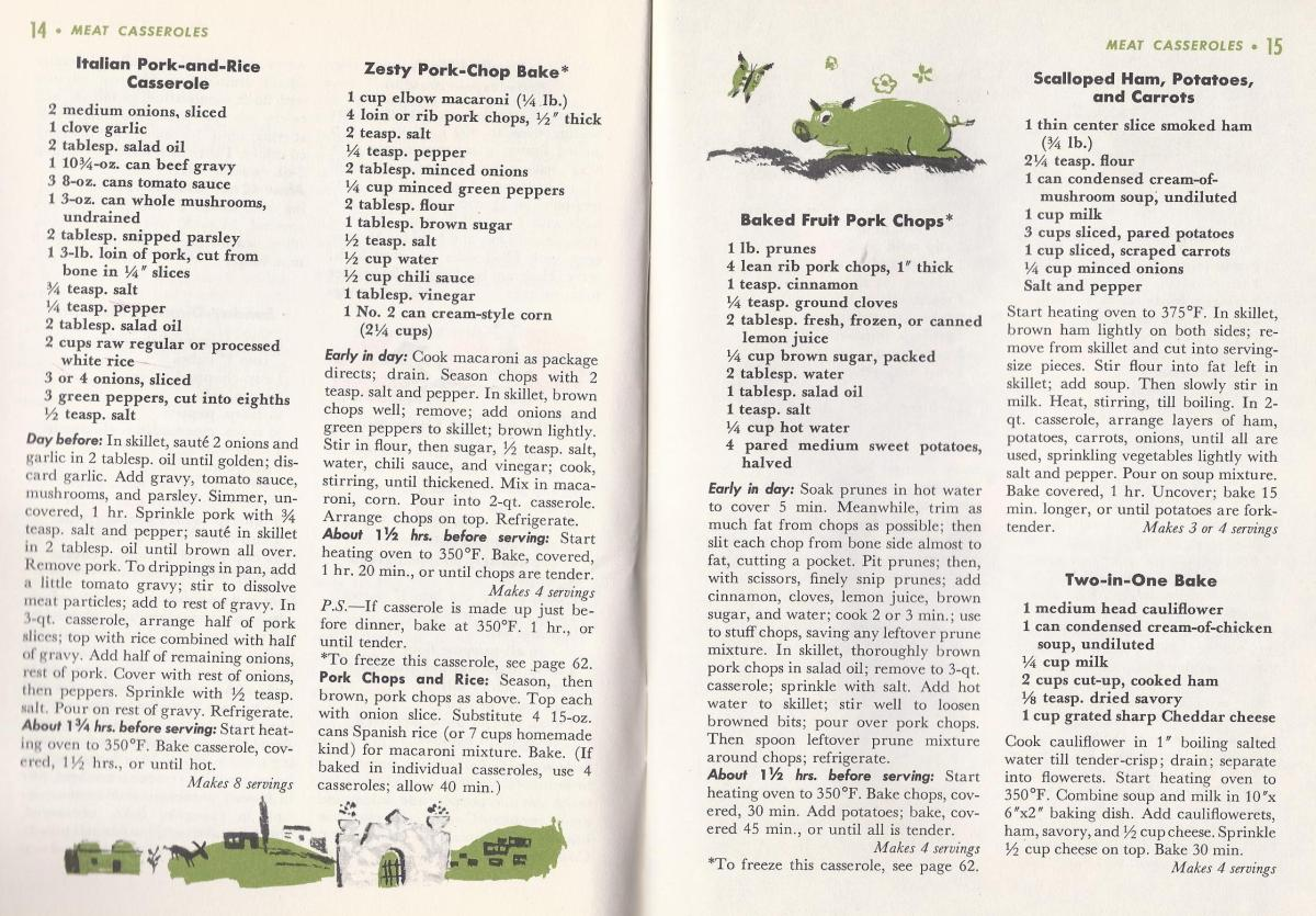 Vintage Recipes, Casseroles, 1960s Recipes