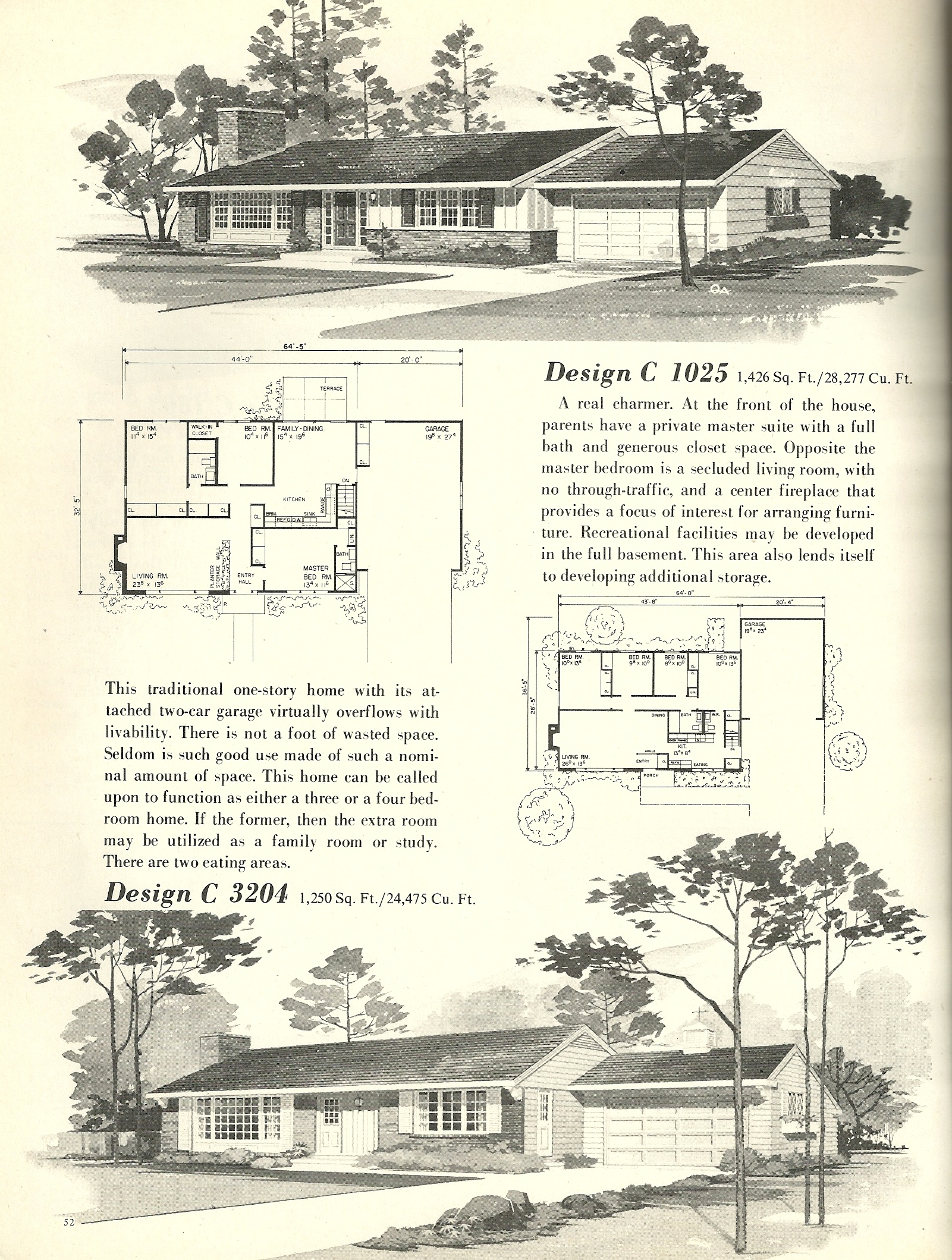 Vintage house plans 1025 antique alter ego for 1960 ranch house plans