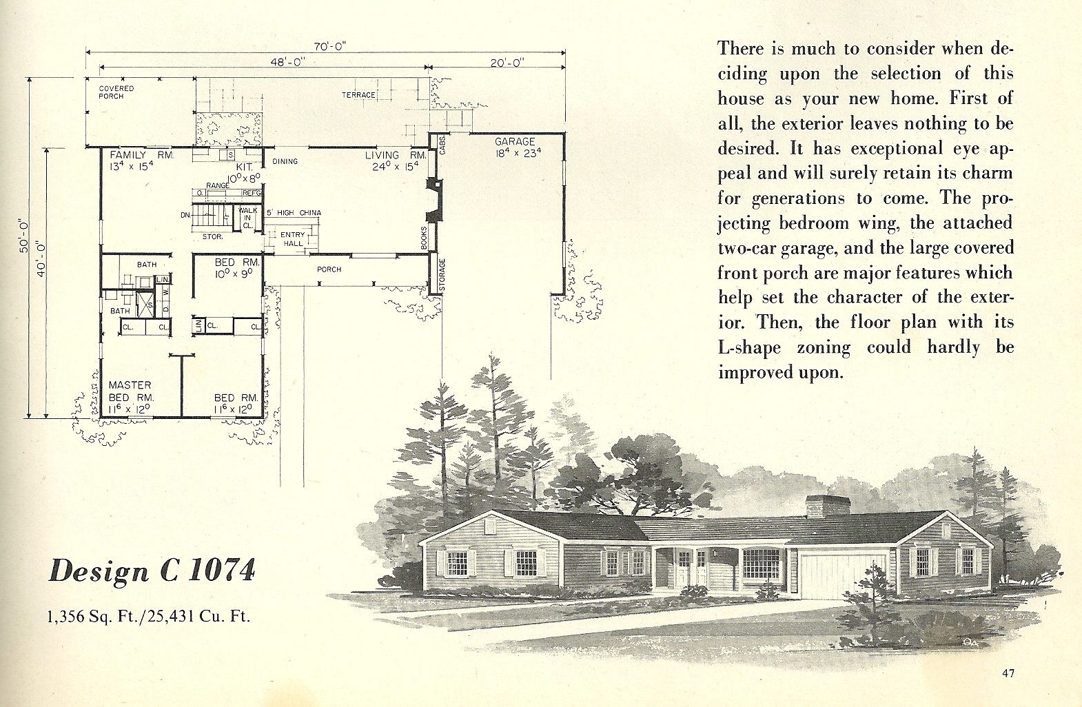 Vintage house plans 1074 antique alter ego for Vintage floor plans