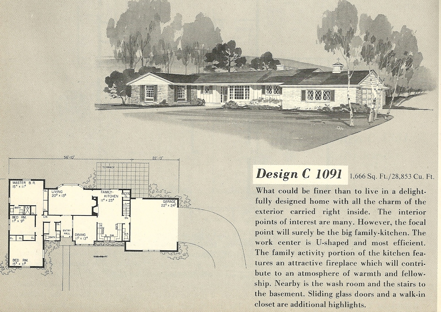 vintage house plans 1091 - Vintage Farmhouse Plans