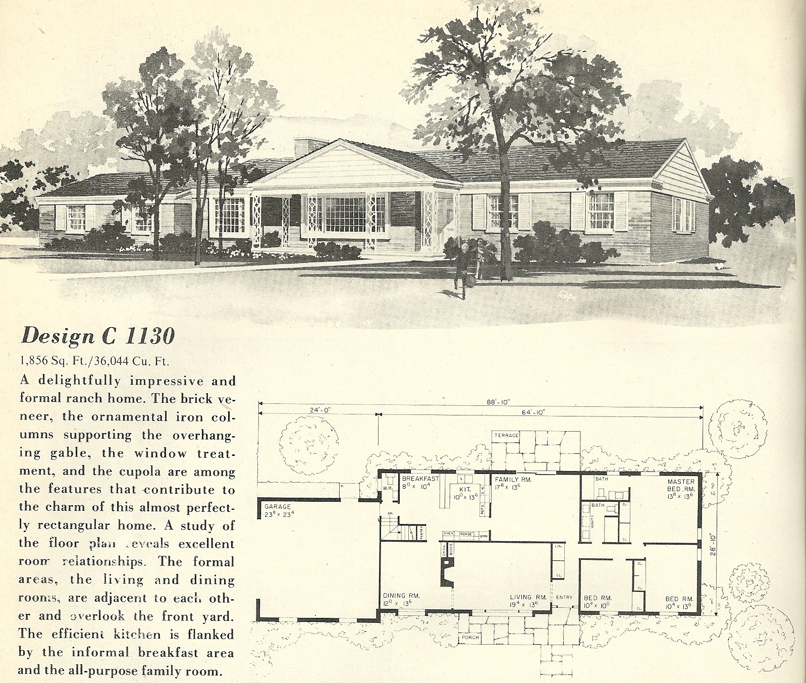 Vintage house plans 1130 antique alter ego for Vintage home plans