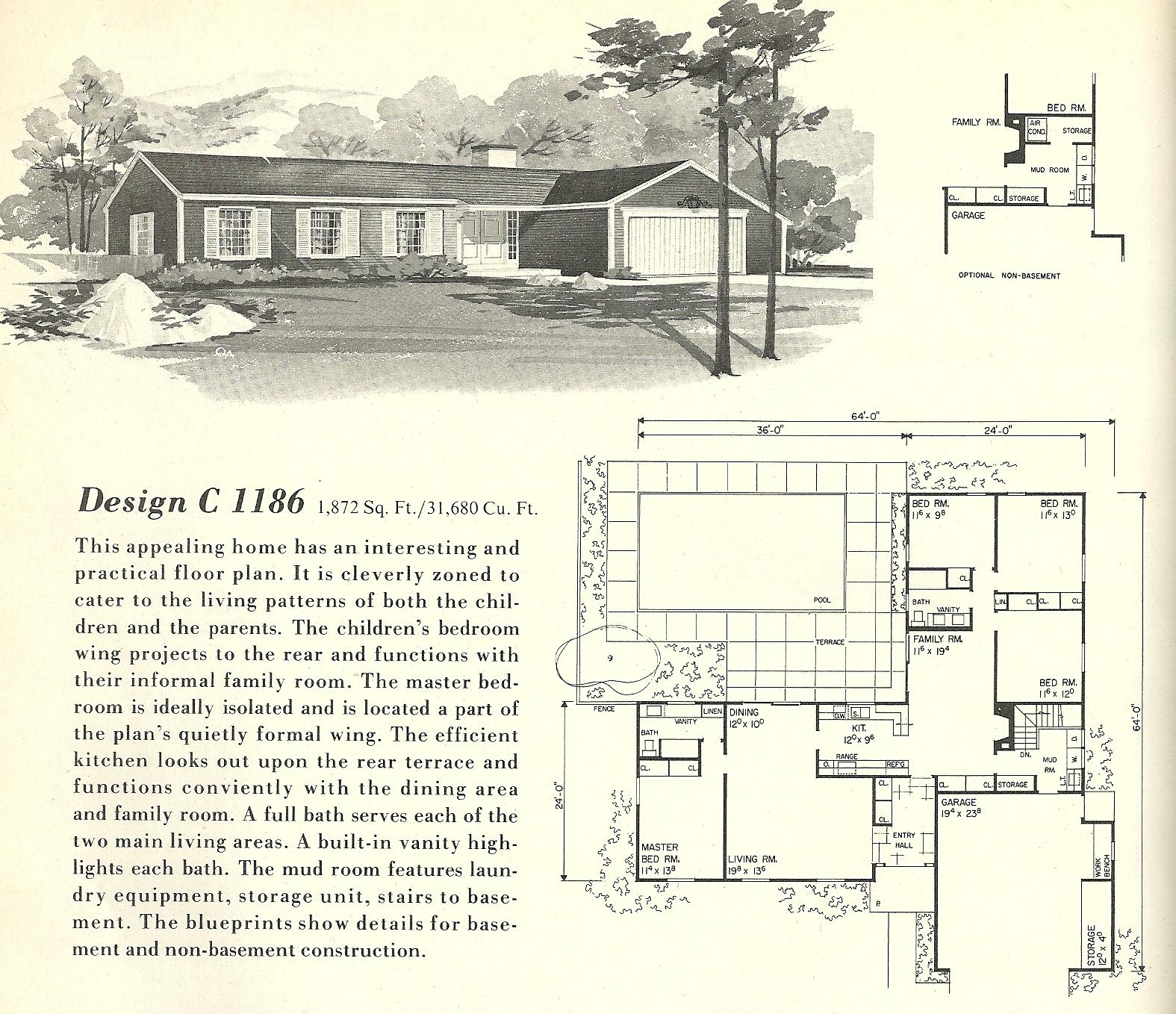 Vintage House Plans 1186 Antique Alter Ego