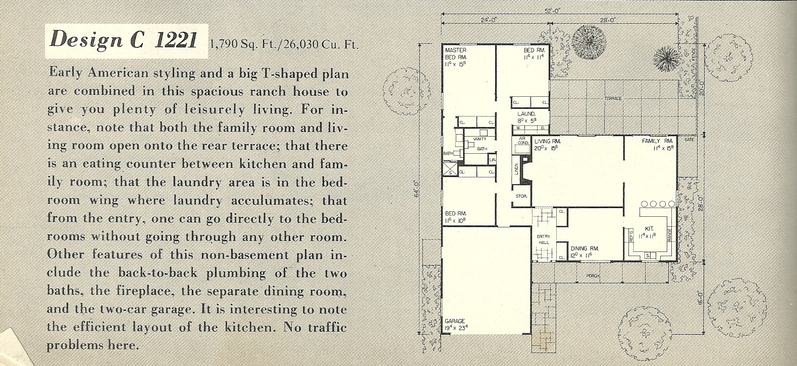 Vintage house plans 1221a antique alter ego for 1960 s home plans