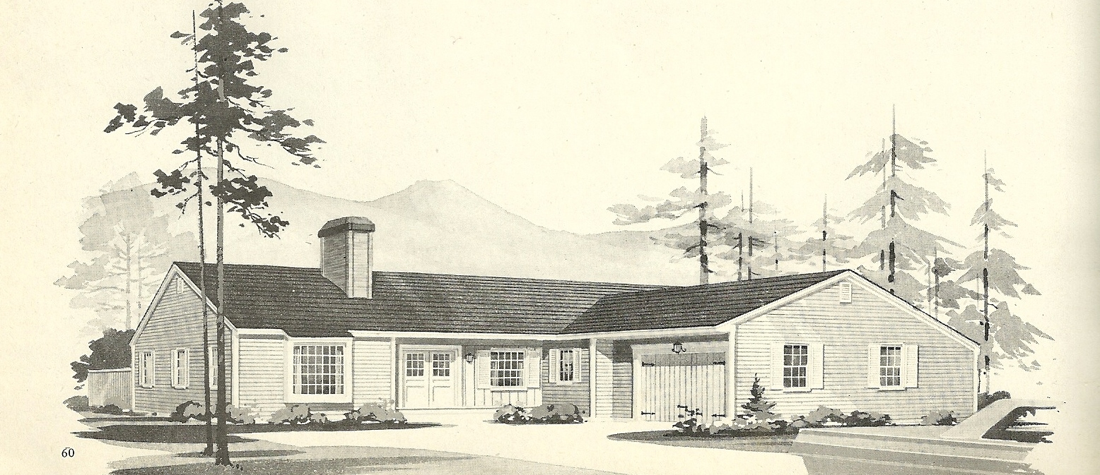 Vintage House Plans 1960s LShaped and TShaped Homes Antique