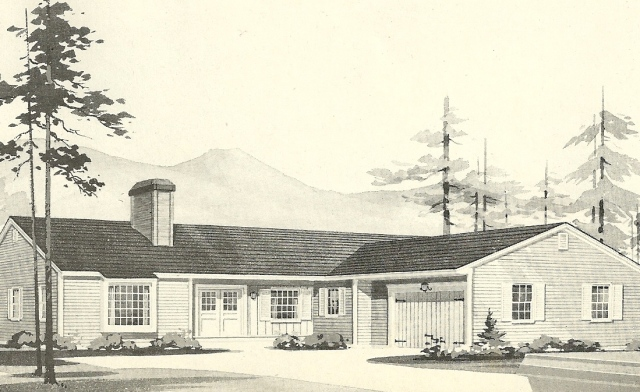 Vintage House Plans 1960s: L-Shaped and T-Shaped Homes ...
