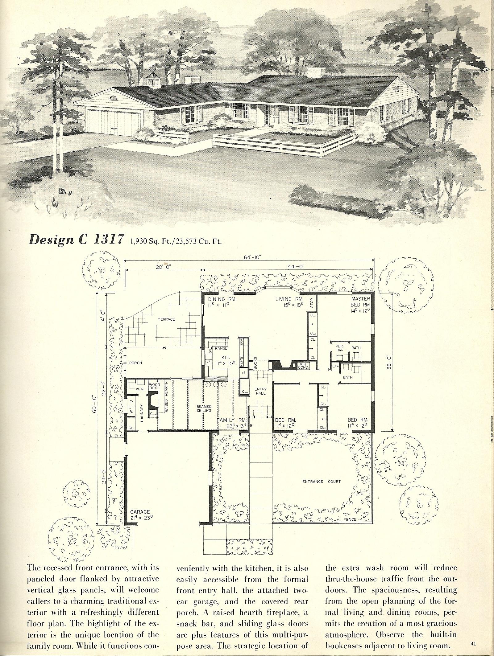 Vintage House Plans 1317 Antique Alter Ego