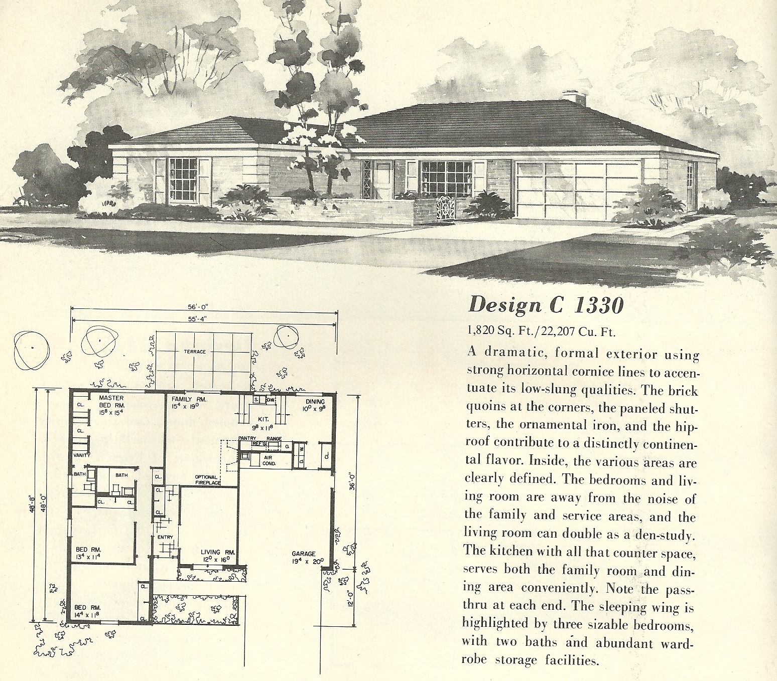 vintage house plans 1330 antique alter ego