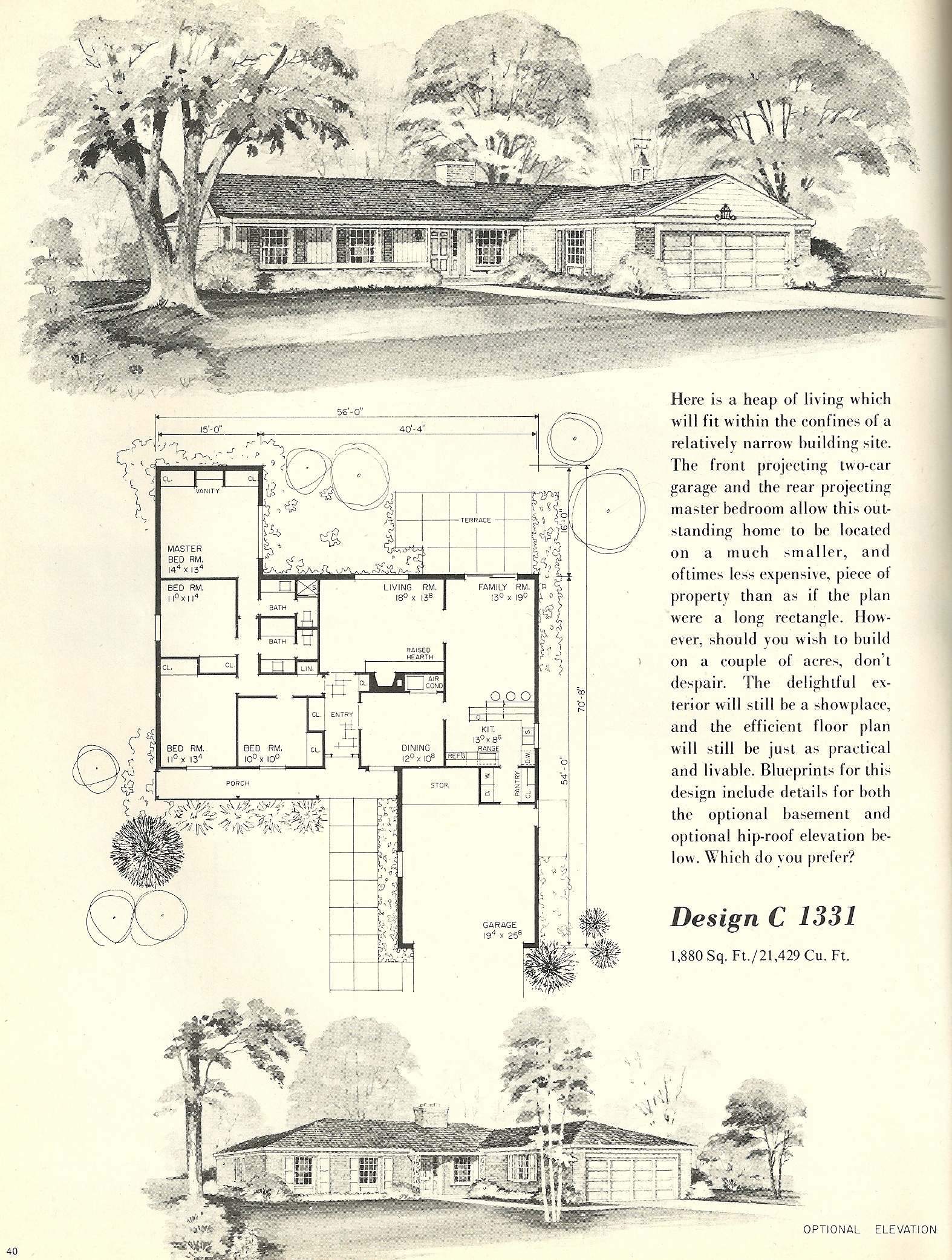 Vintage House Plans 1331 Antique Alter Ego
