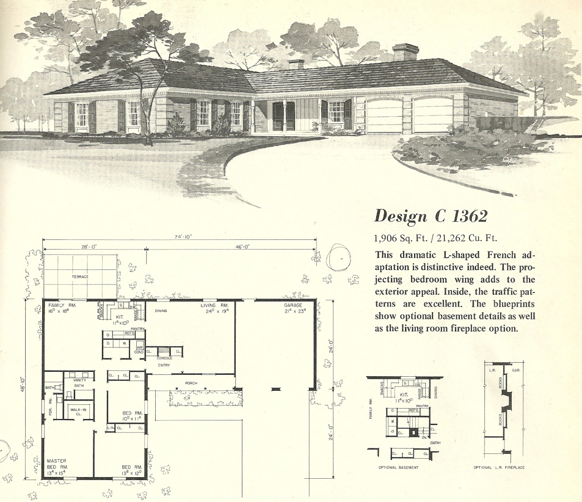 Vintage house plans 1362 antique alter ego for Mid century home plans