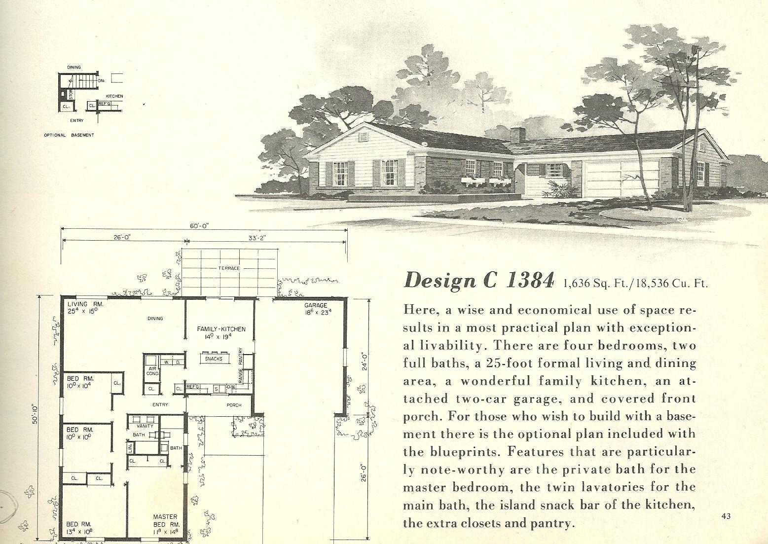 Vintage 1960S House Plans
