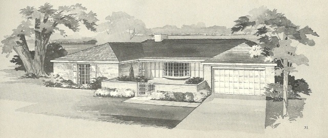 vintage house plans 1960s brick veneers and angled homes