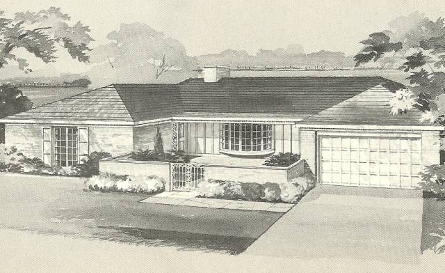 Vintage house plans 1960s brick veneers and angled homes for 1960 ranch house plans