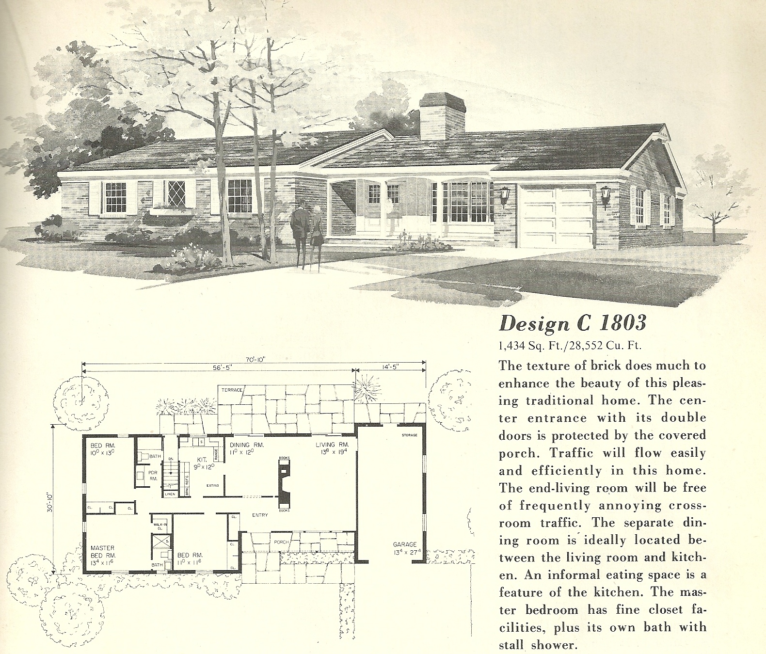 vintage house plans 1960s ranches and l shaped homes