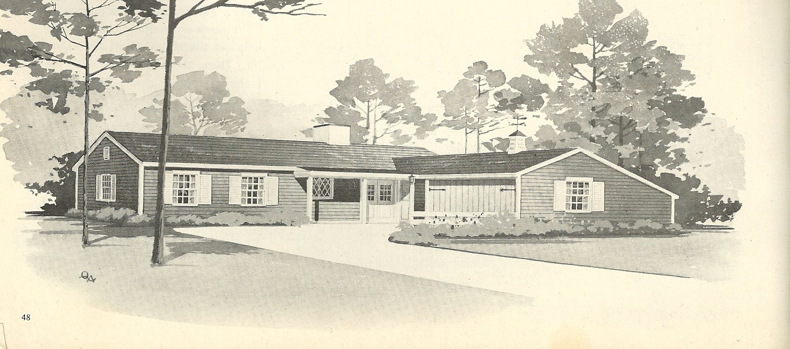 Vintage house plans 2122 antique alter ego 1960s ranch style house plans