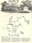 Vintage House Plans, Mid Century Homes, 1960s Houses