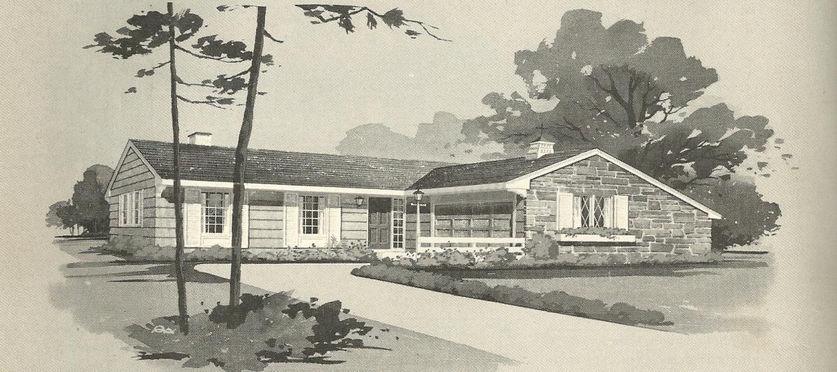 Vintage House Plans, 1960s Homes, Vintage Houses