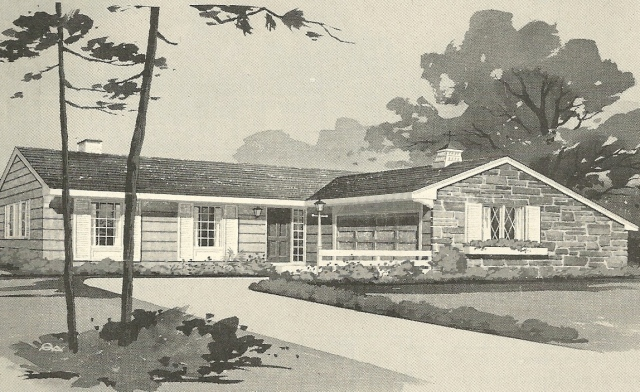 Vintage house plans 1960s ranches and l shaped homes for L shaped ranch homes