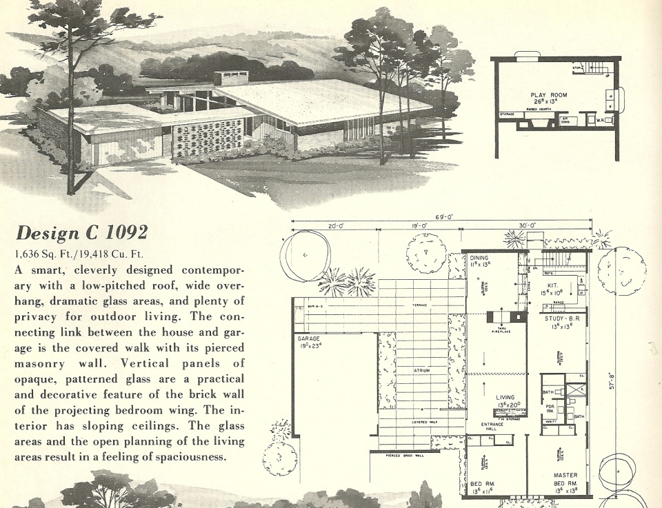 vintage house plans 1092 antique alter ego
