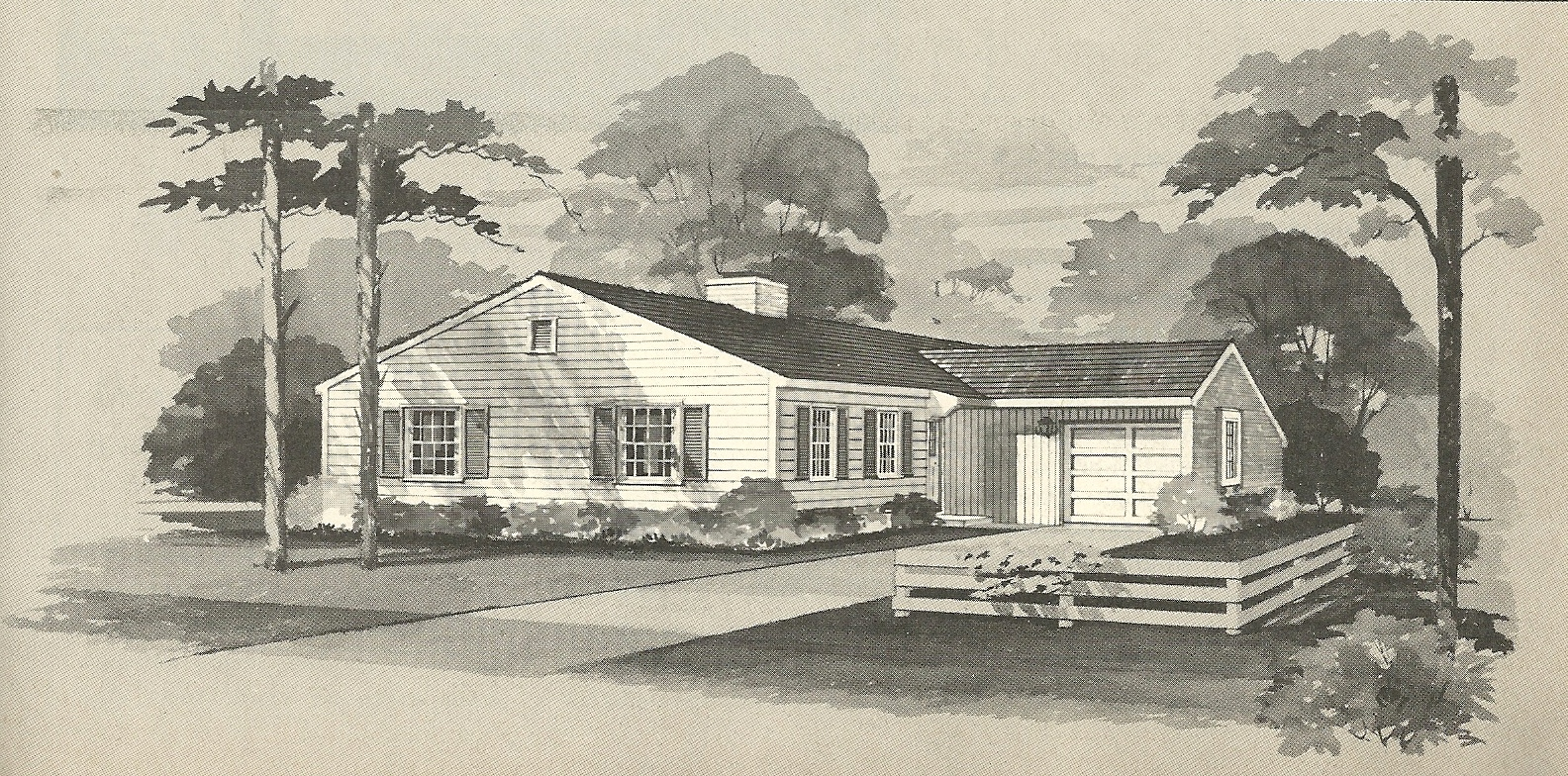 Vintage House Plans 1960s: L-Shaped and Multiple Exteriors ...