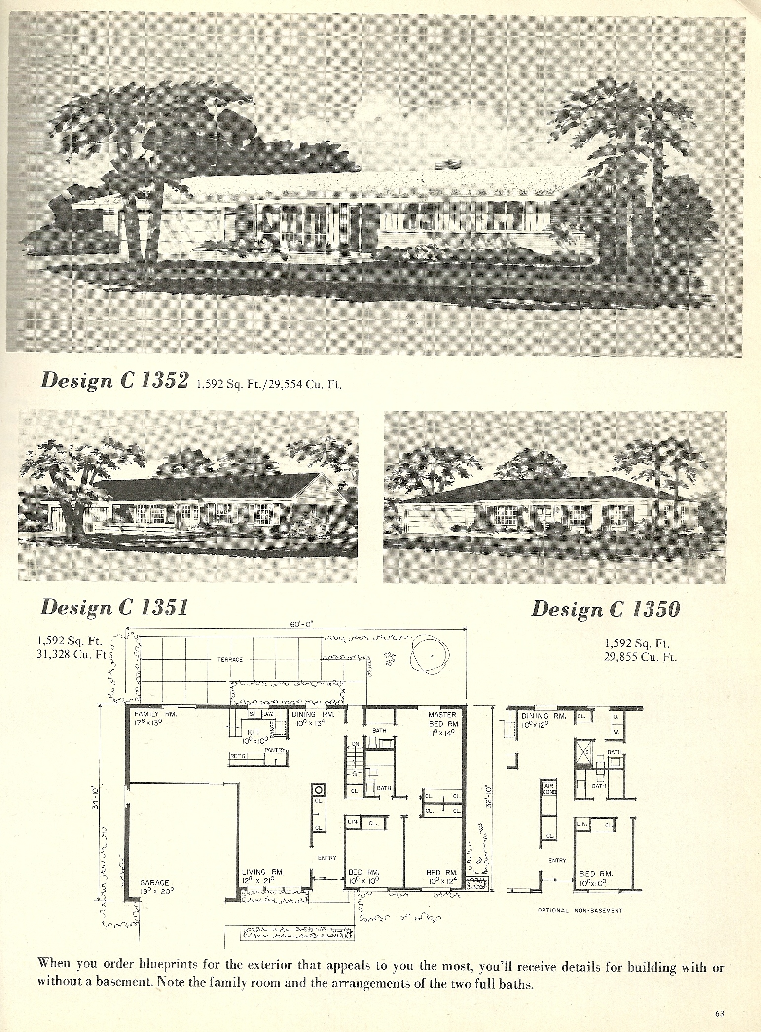Vintage house plans 1352 antique alter ego for Vintage floor plans