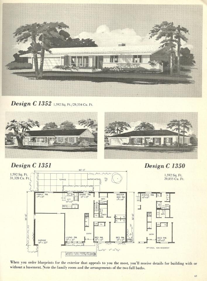 Vintage House Plans 1352 Antique Alter Ego