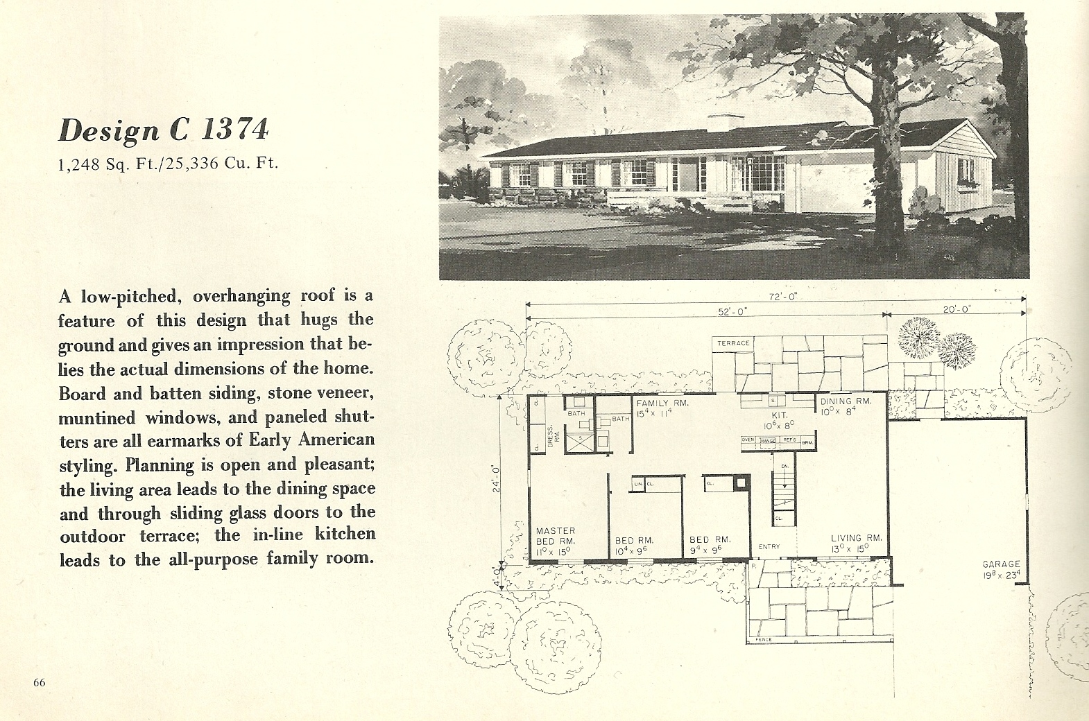 Vintage house plans 1374 antique alter ego for 1960 s home plans